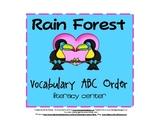 Rain Forest ABC Order Activity