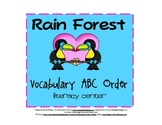 Rain Forest ABC Order Activity