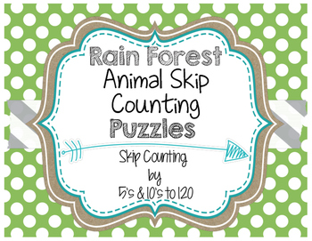 Rain Forest Animal Skip Counting Puzzles