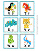 Rain Forest Animals Alphabet Letter Match Puzzles
