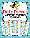 Rain Forest Animals Alphabet Letter Match Puzzles