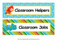 Rain Forest Animals Classroom Job Helpers Set