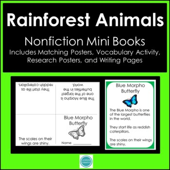 Rain Forest Animals Non Fiction Mini Books