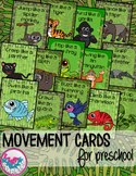 Rain Forest Animals Movement Cards for Preschool and Brain Break