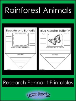 Rain Forest Animals Research Pennant Posters