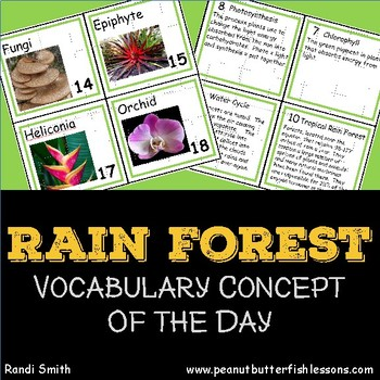 Rain Forest Vocabulary Concept of the Day