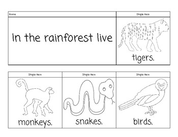 Rain Forest Flip Book
