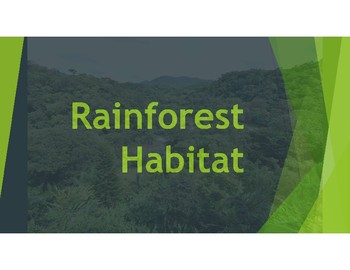 Rain Forest Habitat PowerPoint-information about plants and animals.