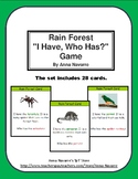 "Rain Forest  ""I Have, Who Has?"" Game"