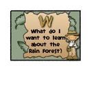 Rain Forest KWL Chart Heading