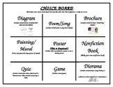 Rain Forest Nonfiction Unit Introduction Letter/Choice Board/Template