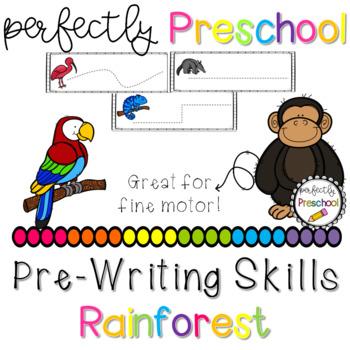 Rain Forest Prewriting Skills {Dollar Deal}