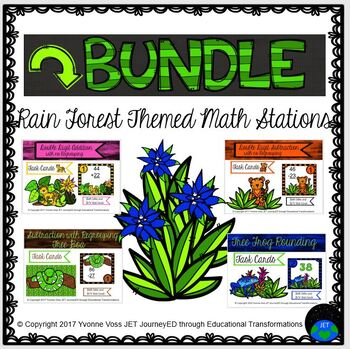 Rain Forest Themed Math Stations Bundle