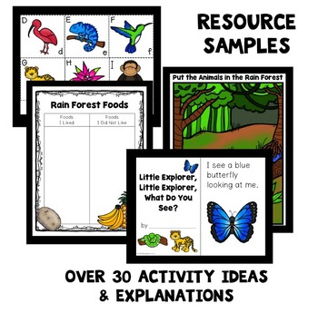 Rain Forest Theme Home Preschool Lesson Plans