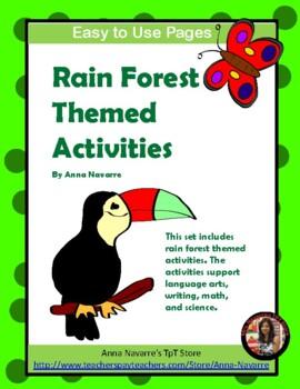 Rain Forest Themed Activities