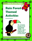 Rain Forest Themed Activities