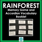 Rainforest Vocabulary Memory Game with Accordion Booklet and Definition Cards