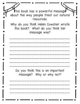 Rain Forest by Helen Cowcher - A Book Response Journal