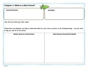Rain Forests Fact Tracker - MTH Common Core book study