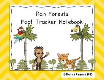 Rain Forests Fact Tracker Notebook (MTH Nonfiction Companion)