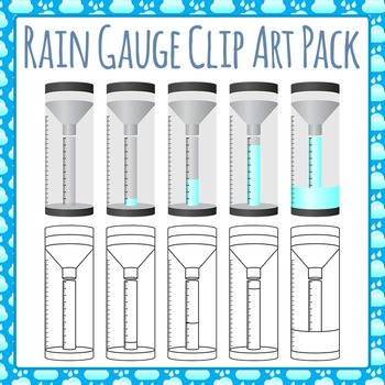 Rain Gauge Clip Art Pack for Commercial Use