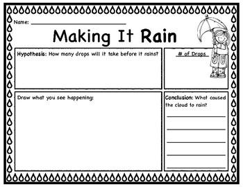 Rain In a Jar Journal Sheet