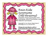Speech Therapy: Rain Kids Advanced Synonym Activity