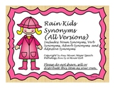 Speech Therapy: Rain Kids Advanced Synonym Activity