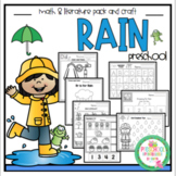 Rain Math and Literature plus Craft Printable