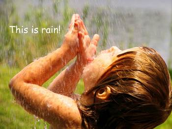 """Rain Nonfiction PowerPoint """"Book"""" for First or Second Grade"""