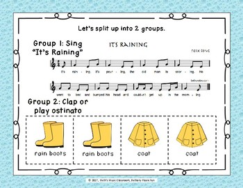 Rain On and On and On! 2 Spring Folk Songs to Learn about Ostinatos