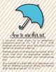 Rain Rain Coloring/Dictation Page (ta & ti-ti prep & practice