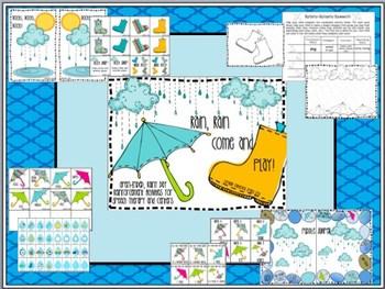 Rain, Rain, Come & Play! Spring Themed Speech & Language Activities