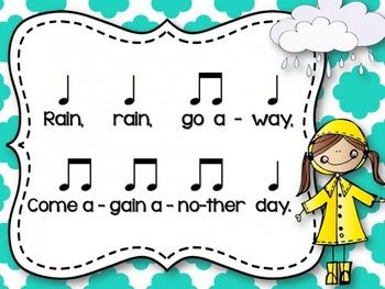 Rain, Rain, Go Away {A Song to Teach Ta and Titi}