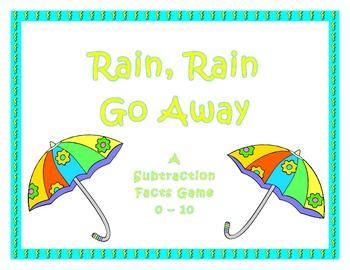 Rain Rain Go Away!  A Subtraction Game