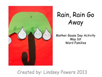 Rain, Rain Go Away -A Word Family Activity for Mother Goose Day