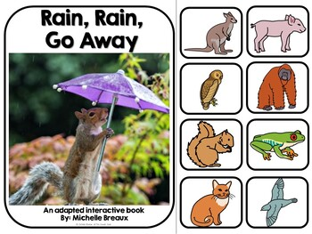Rain, Rain, Go Away!- Adapted Interactive Book With Real Pictures (SPED, Autism)