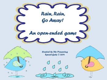 Rain, Rain, Go Away! {An open-ended game}