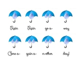 Rain Rain Go Away Beat Chart and Rhythm Notation Dictation