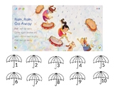 Rain Rain Go Away Counting file folder game