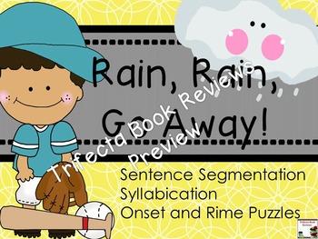Kindergarten RTI:  Rain, Rain, Go Away! Rhyme and Activities