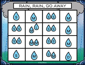 Rain, Rain, Go Away Rhythm and Beat Charts