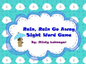 Rain, Rain Go Away Sight Word Game