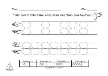 Rain, Rain, Go Away (s-m) - Notation Pack ☂