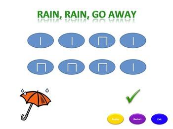 Rain, Rain, Go Away (s-m) Rhythm Pack ☂