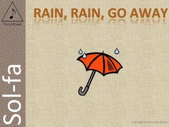 Rain, Rain, Go Away (s-m) - Sol-fa Pack ☂
