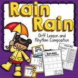 Rain, Rain Orff Arrangement and Rhythm Composition