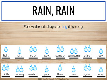 Rain, Rain: a guided lesson for Orff instruments