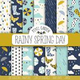 Rain, Weather, Raindrop, Umbrella, Rainboots, Could, Digit