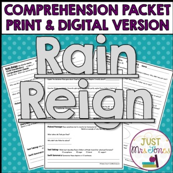 Rain Reign Comprehension Packet
